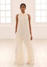 HOPE JUMPSUIT IN CREME TENCEL™