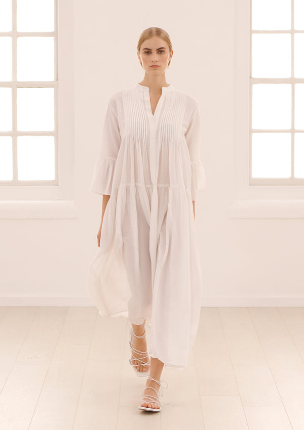 LIVY DRESS IN SOFT WHITE TENCEL™