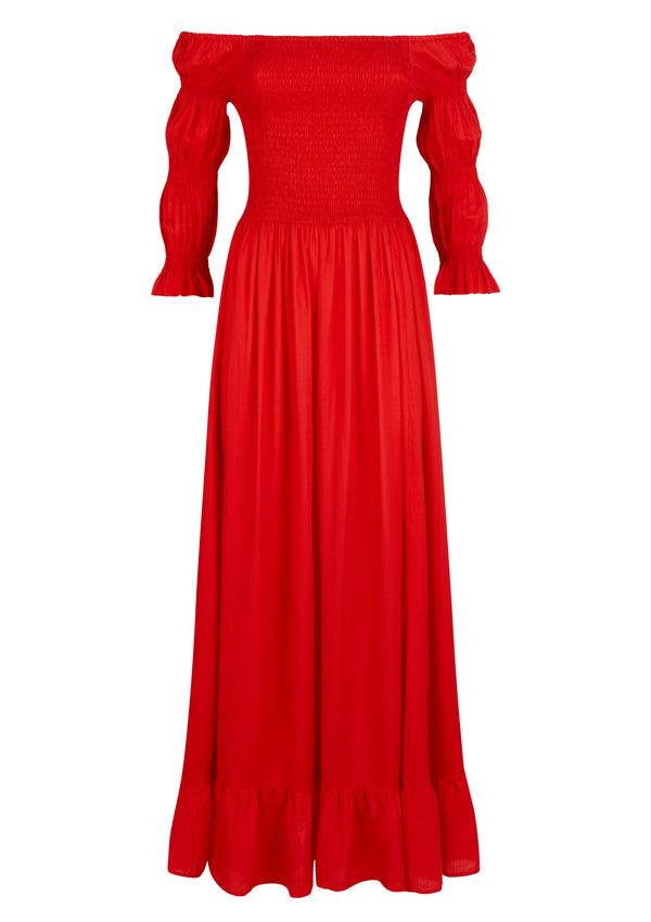 LORA DRESS IN ROUGE TENCEL™