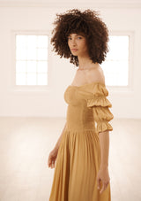 LORA DRESS IN SAND TENCEL™