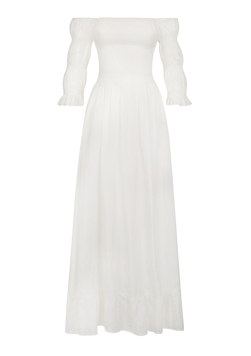 LORA DRESS IN SOFT WHITE TENCEL™