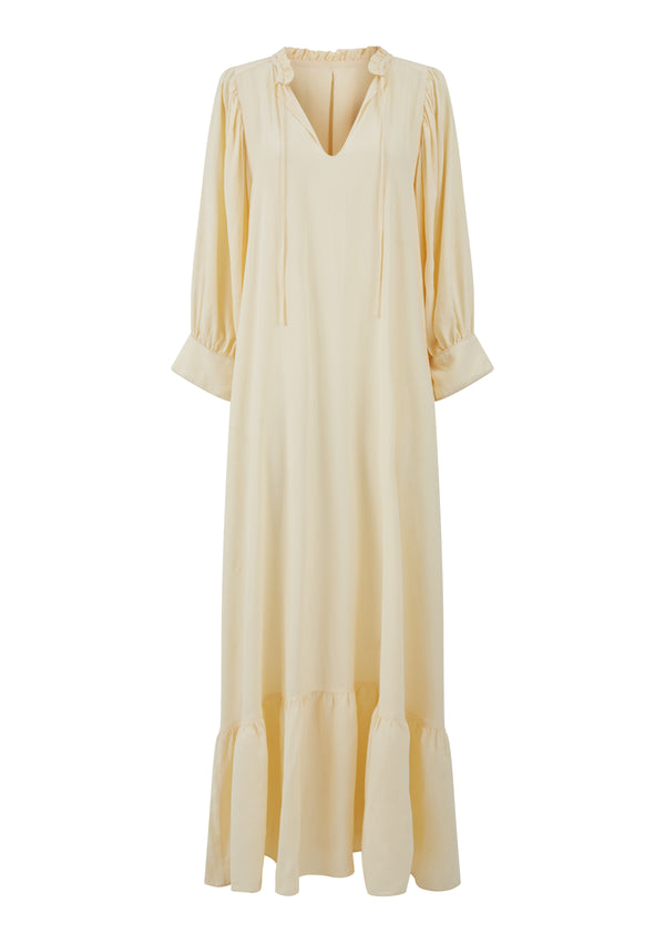 MELA DRESS IN CREME TENCEL™