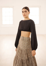 MELOR SKIRT IN ORGANIC SILK - COSMOS