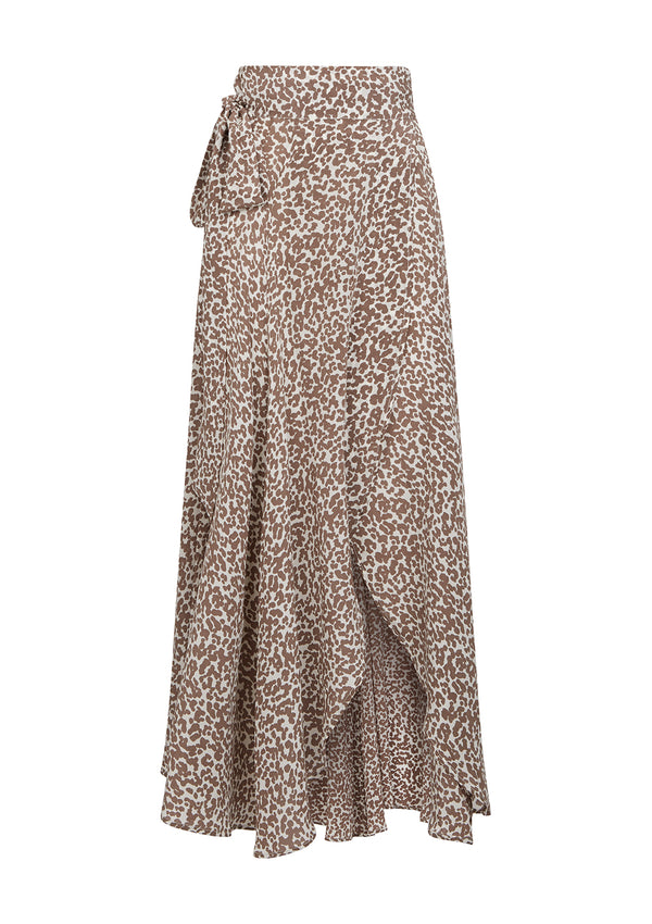 MILU SKIRT IN ORGANIC SILK - DOTTY MUSHROOM