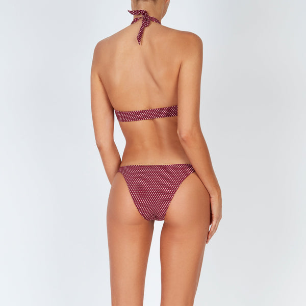 EVARAE Nephele Bikini Bottoms Sporty Fit Silky Sustainable Geo Berry Resort 20 Back