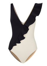 OTTO SWIMSUIT IN ECONYL® - NERO/CREME