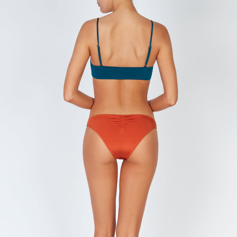EVARAE Regan Bikini Top Blu Tropico Square Neck Thin Straps Silky Sustainable Resort 20 back