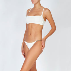 EVARAE Row Bikini Top Square Neck Creme SS20 Front