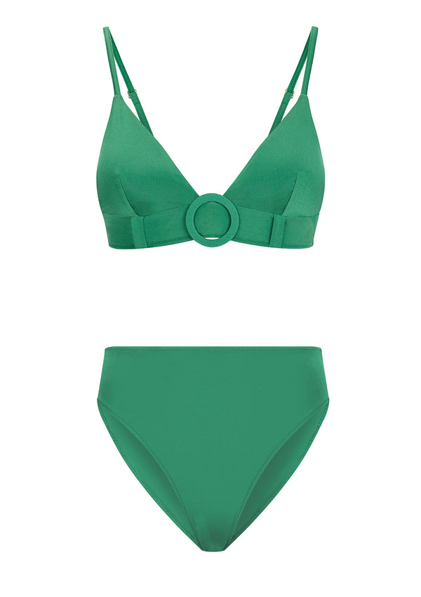 IZA BIKINI BOTTOMS IN ECONYL® - EMERALD