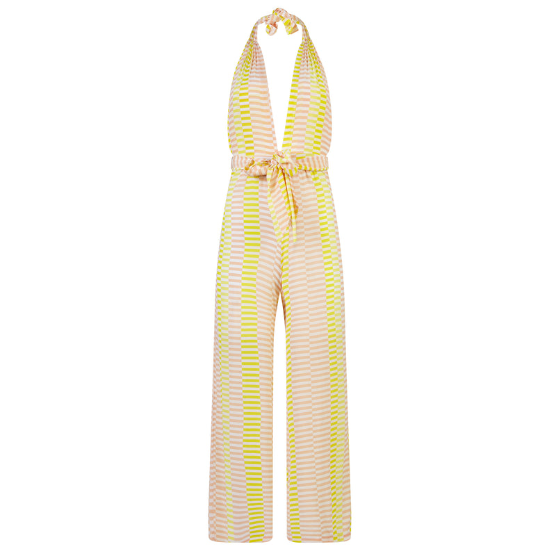 EVARAE Sora Jumpsuit Silk Wrap in Sunray Yellow. Beach cover up. SS20 Product