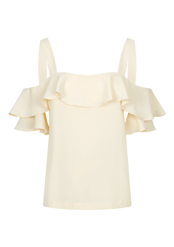 VALI TOP IN CREME TENCEL™