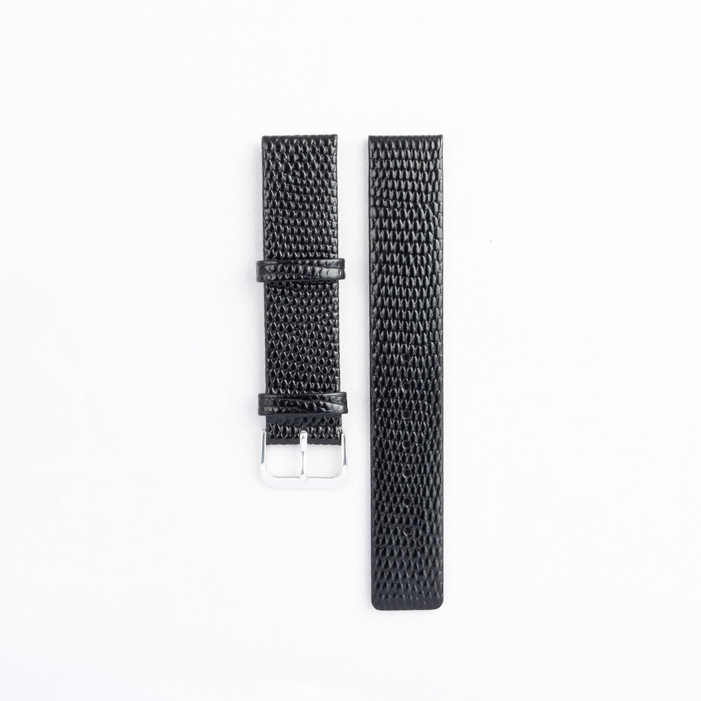 Flat Lizard Grain Leather Strap