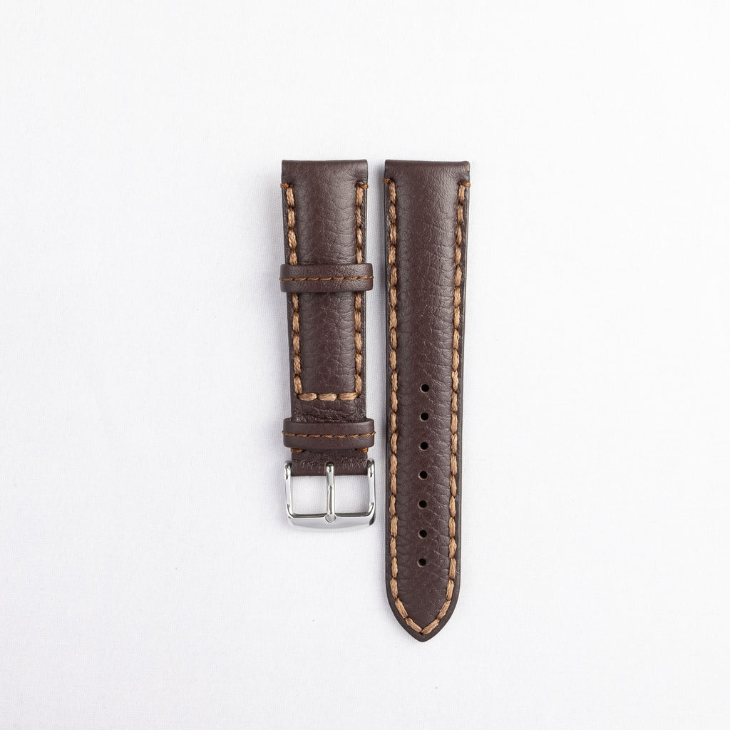 Padded Heavy Stitched Calf Leather Strap