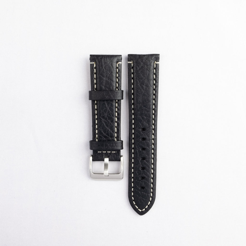 Padded Stitched Italian Leather Strap