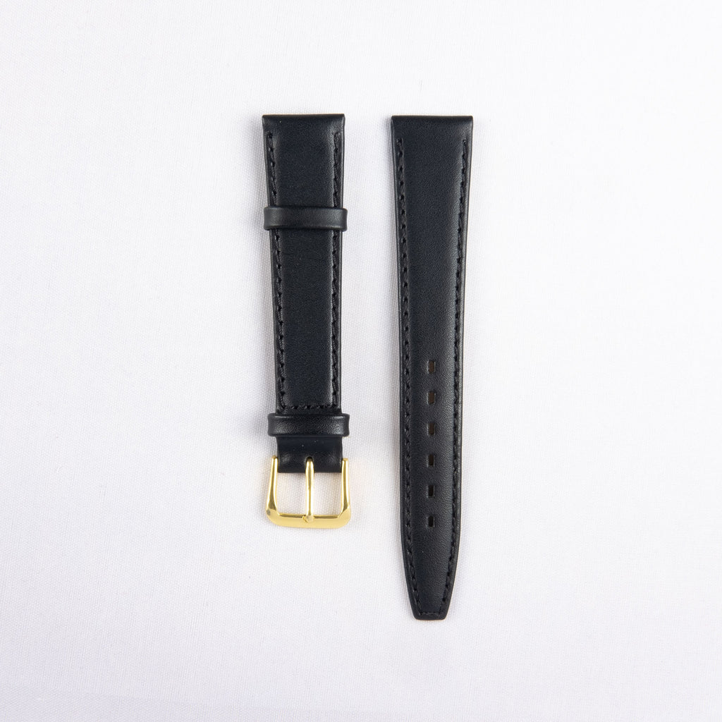 Flat Stitched Calf Leather Strap