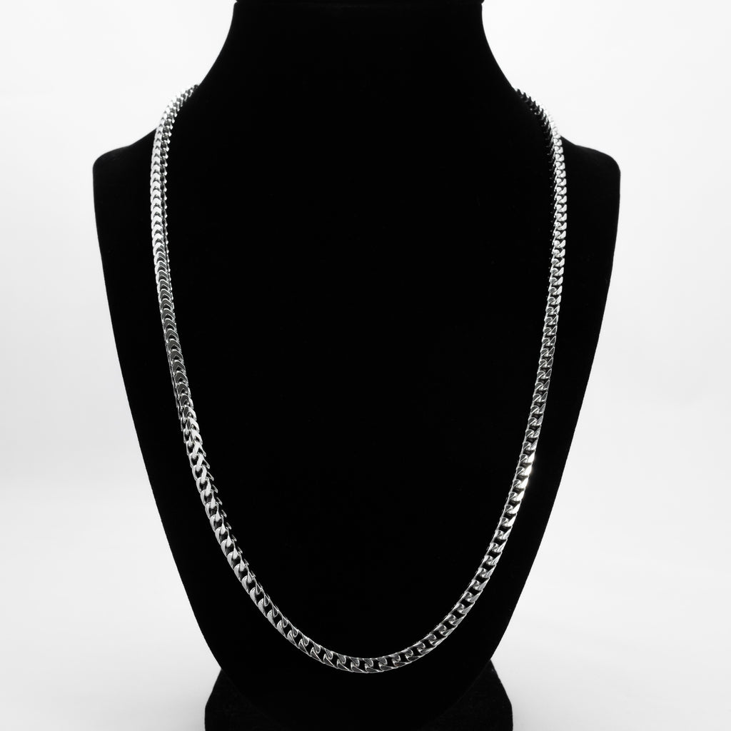 925 Sterling Silver Squared Cuban Link Chain