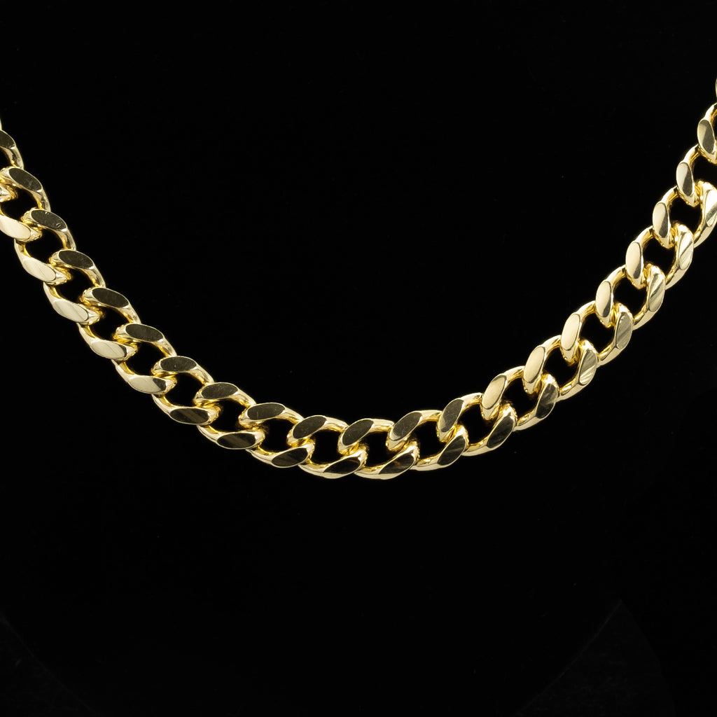 925 Sterling Silver Cuban Chain 10kt Gold Plated