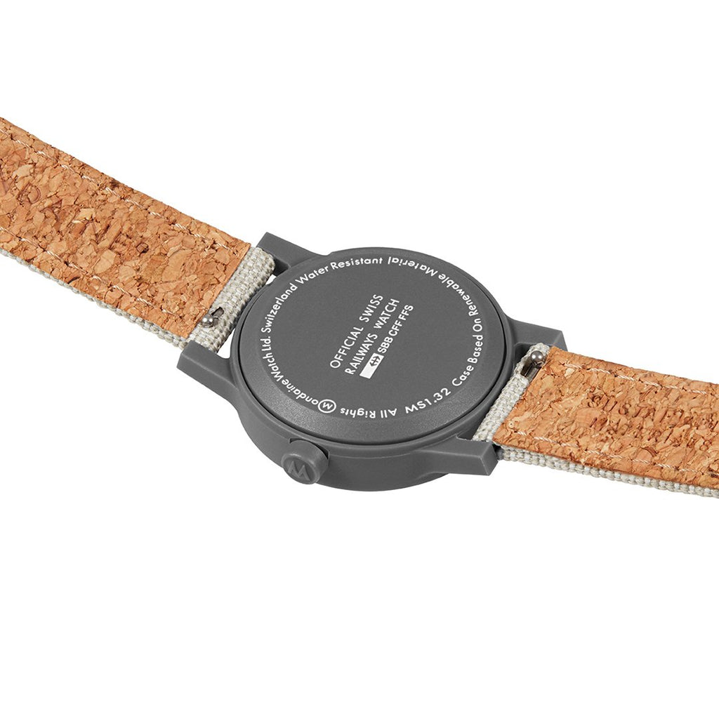 Mondaine Sustainable Materials Light Grey 32mm