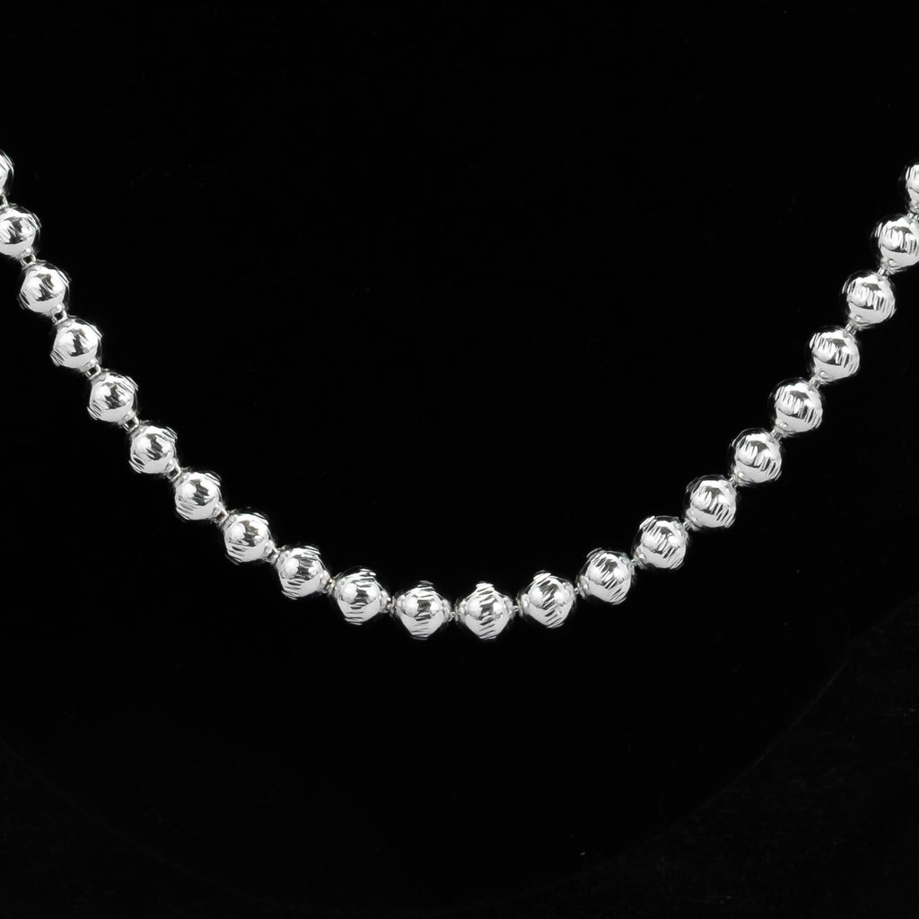 925 Sterling Silver Moon Ball Chain