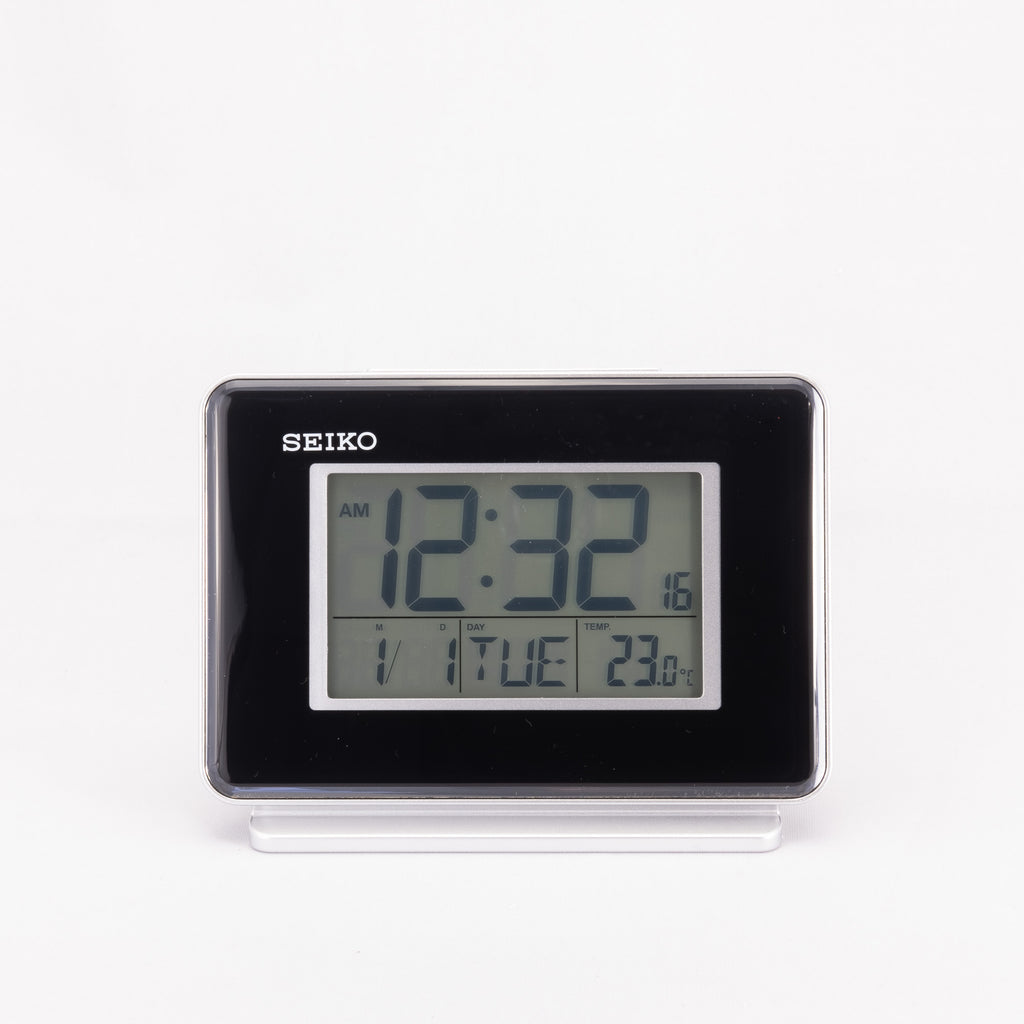 Seiko QHL068K Travel Clock Dual Alarm and Date