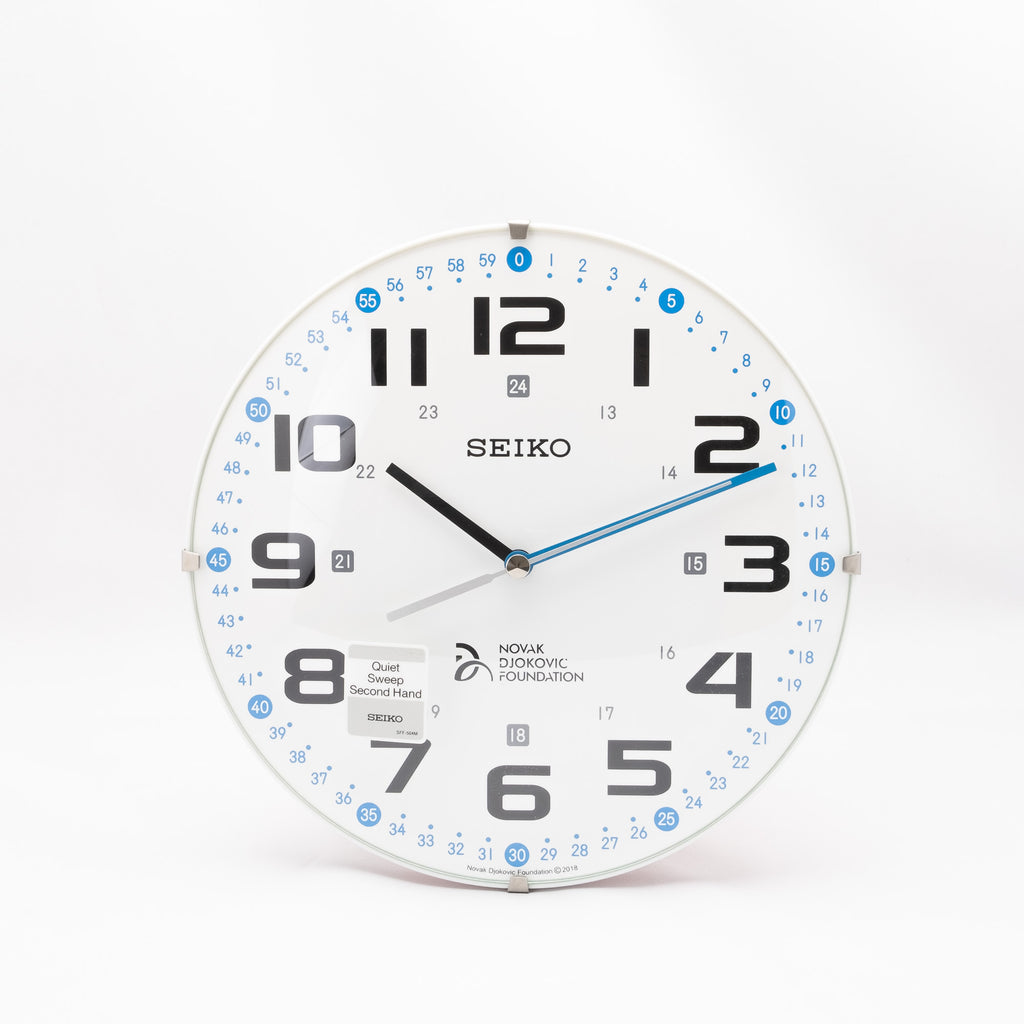 Seiko QXA932W Wall Clock with Folding Stand