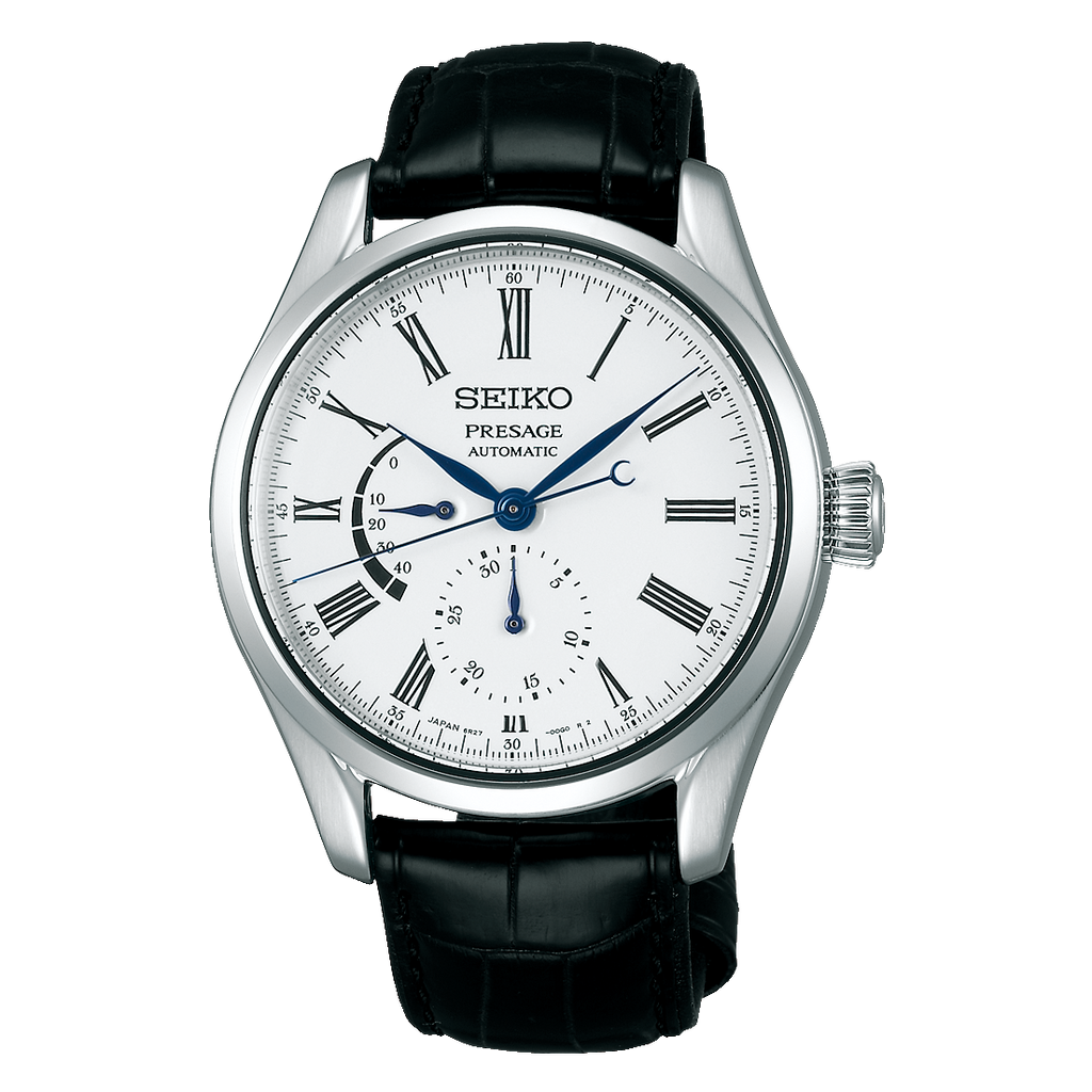 Seiko Presage with Power Reserve and Enamel Dial