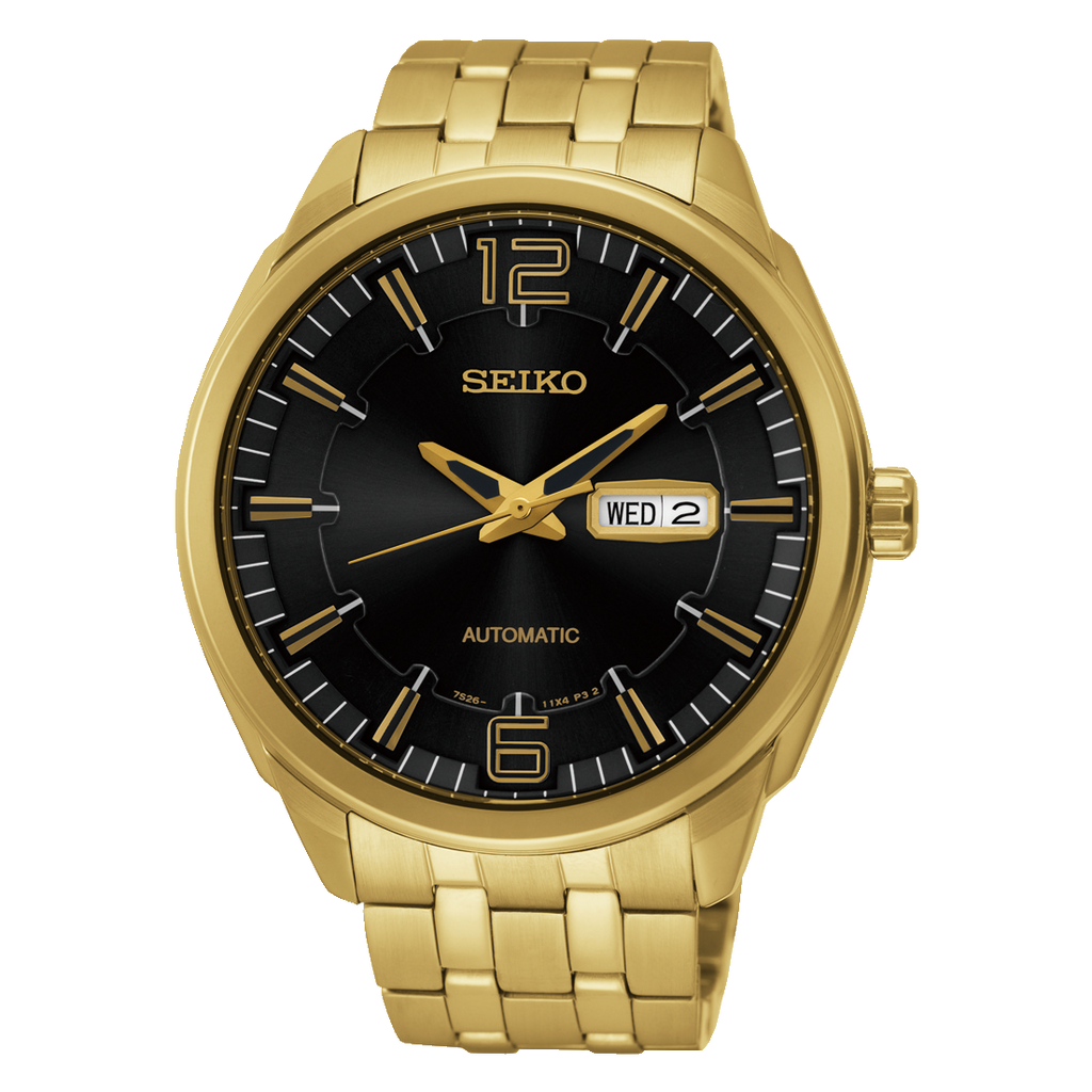 Seiko Recraft Black and Gold