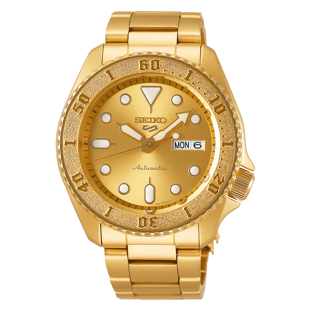 Seiko 5 Sports Goldplated SRPE74K1F