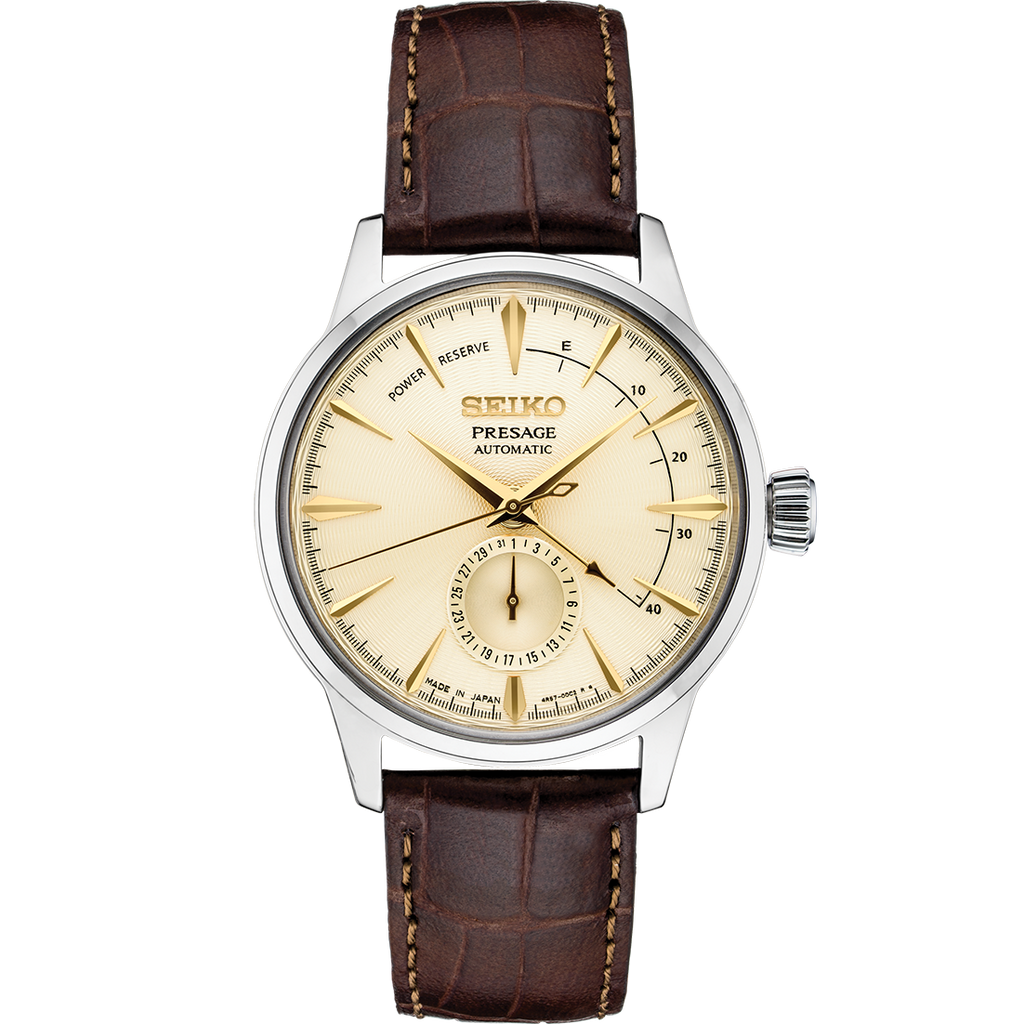 "Seiko Presage Cocktail Time ""Golden Champagne"" Power Reserve"