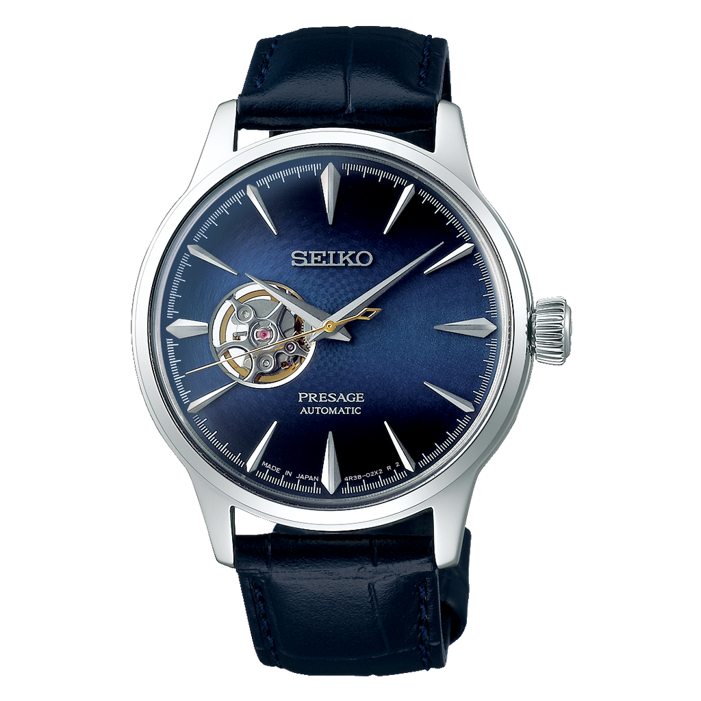 "Seiko Presage Cocktail Time ""Blue Moon"" with Open Heart"