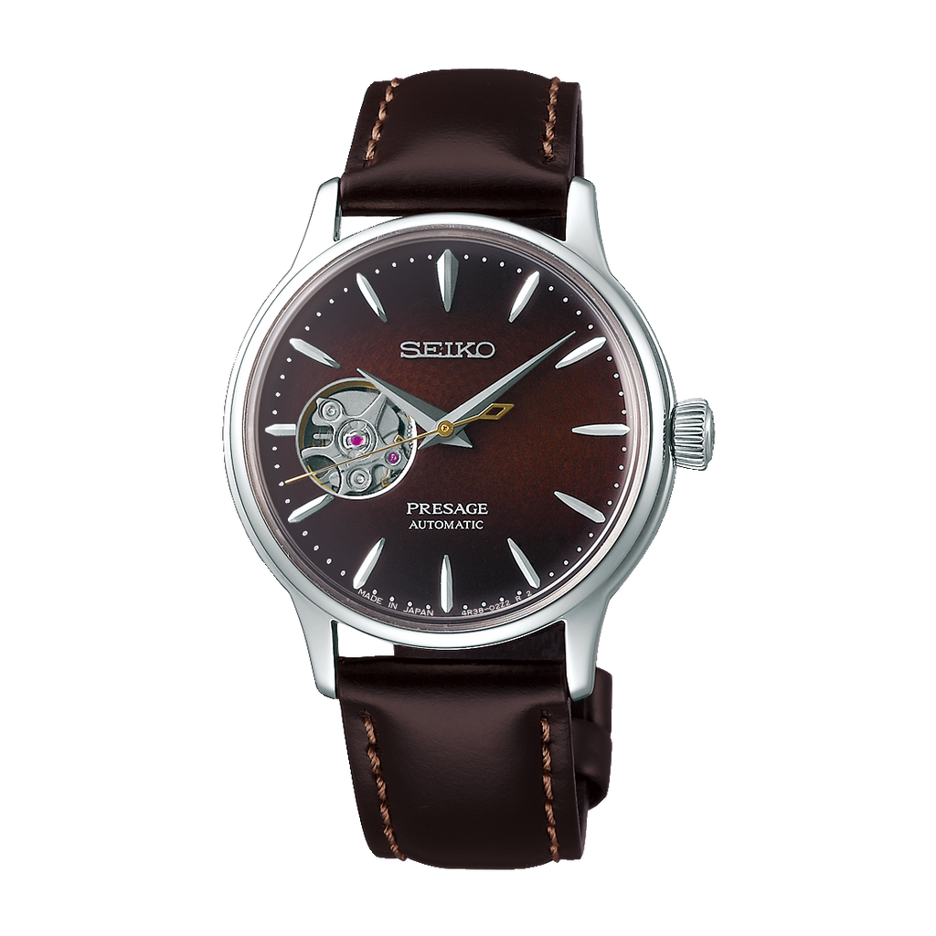 Seiko Presage Ladies' Cocktail Time Open Heart Brown