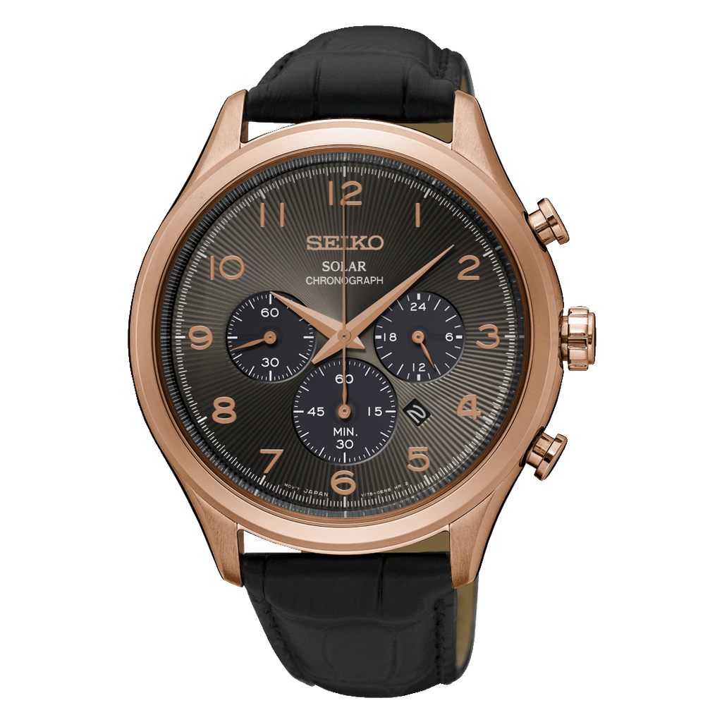 Seiko Core Solar Chronograph Black