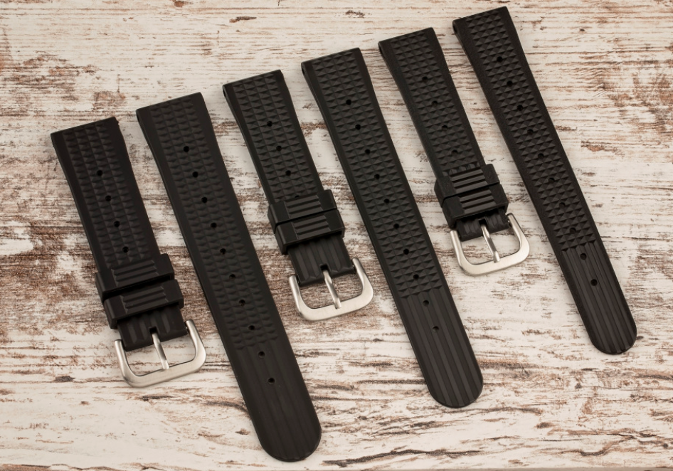 Uncle Seiko Waffle Strap for Diver Watch Black