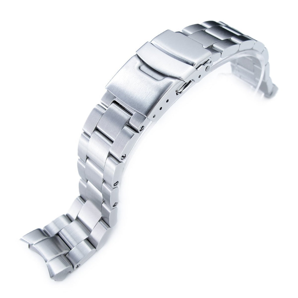 Super-O Boyer Stainless Steel Watch Band for Seiko SKX013