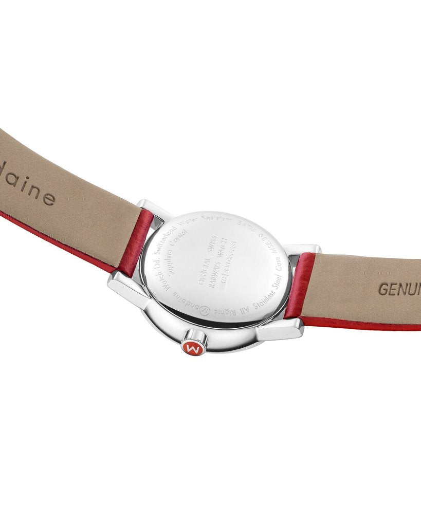Mondaine evo2 Red Leather 30mm