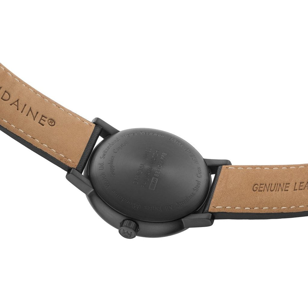 Mondaine evo2 Black Leather 40mm