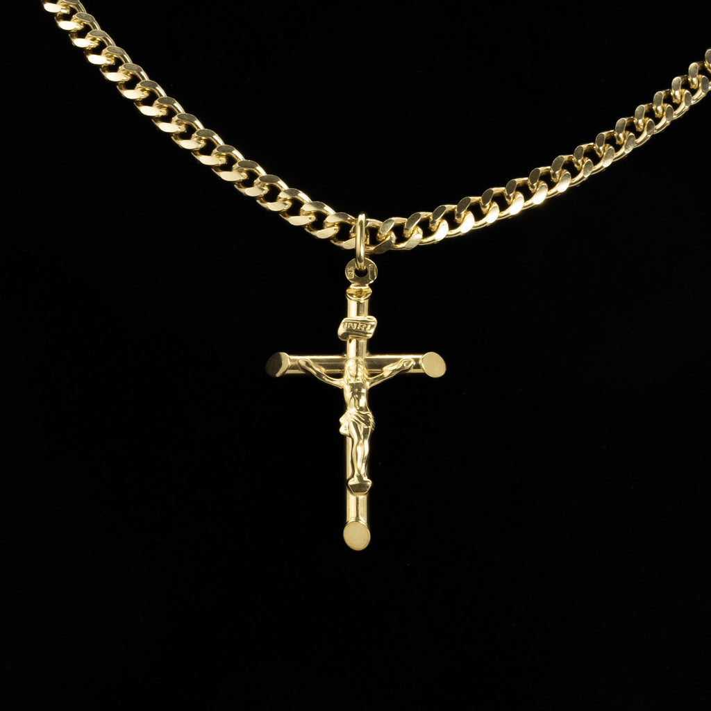 10Kt Solid Gold Crucifix Pendant