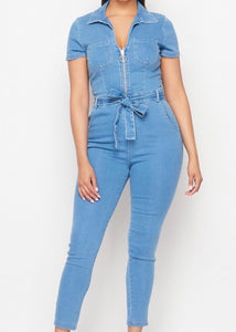 Tiara Denim Jumpsuit