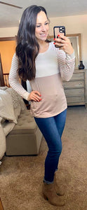 Mocha and Mauve Striped Top