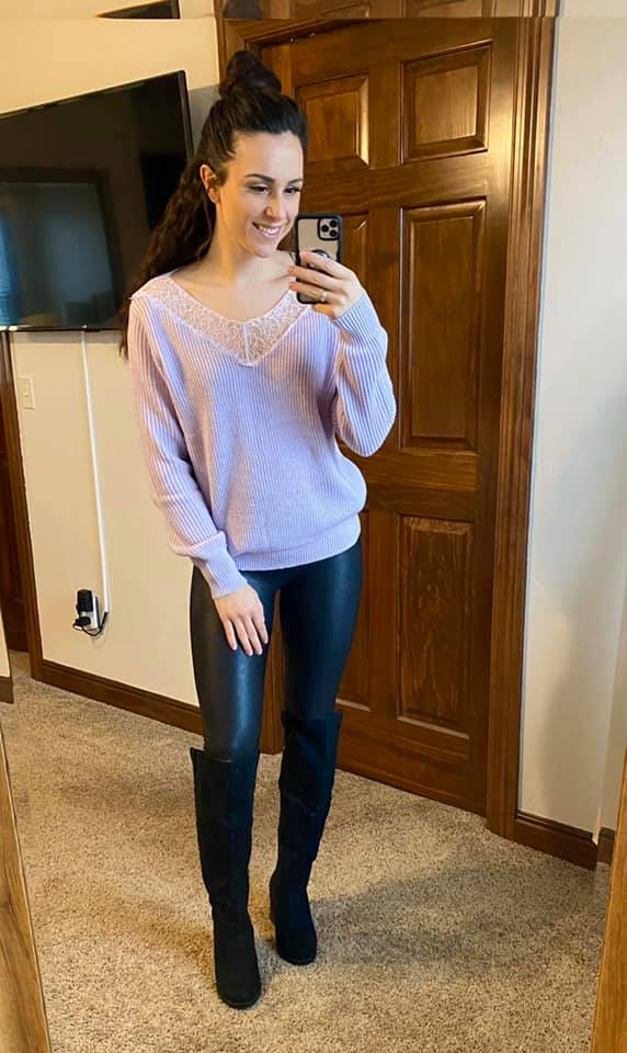 Lilac Lace Sweater