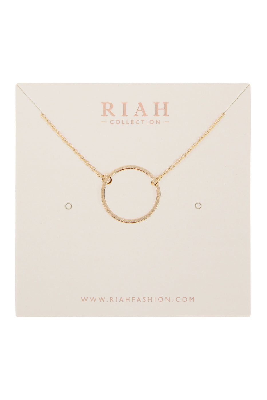 Small Circle Necklace- Gold