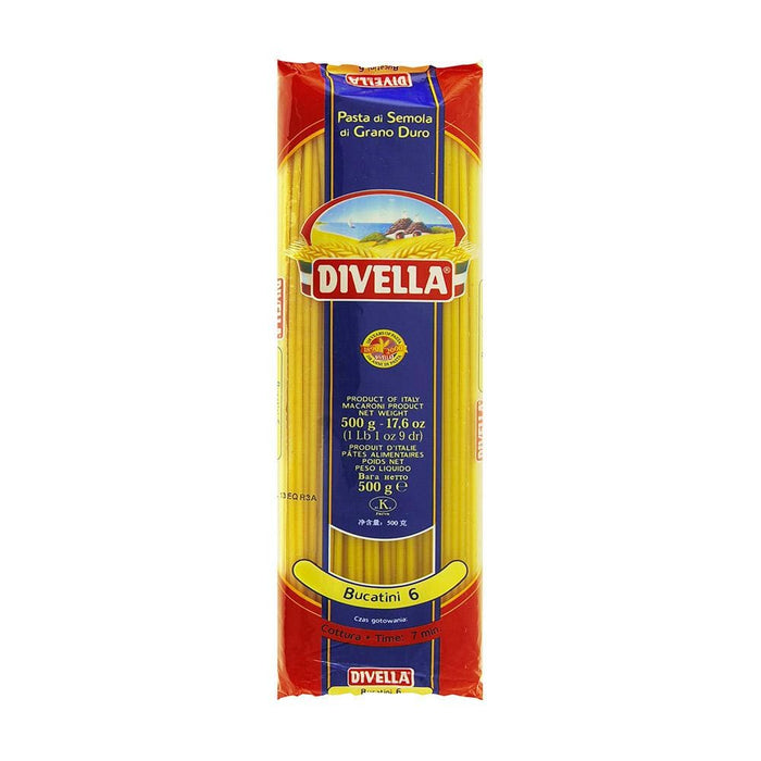 Bucatini #6 by Divella, 500g - 1.1 lb