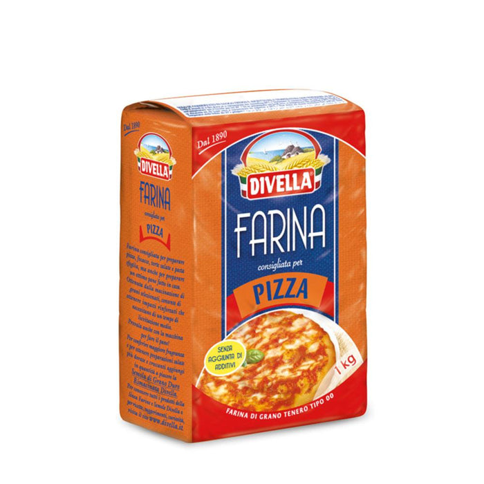 Pizza Flour by Divella, 1 kg - 2.2 lb