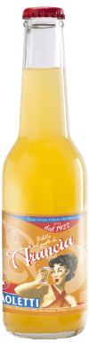 A bottle of Paoletti Aranciata Drink