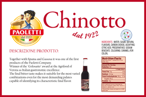 Nutritional content of Paoletti Chinotto, 250ml - 8.4oz