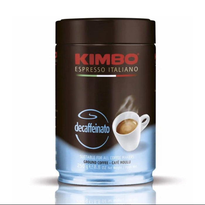 KIMBO Espresso Decaffeinato Ground TIN 250g / 8.8 oz.