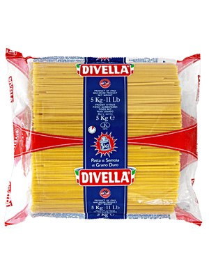 A pack of Divella Linguine, 5kg - 11lb