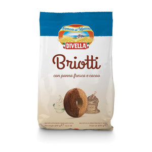 A pack of Divella Briotti with light chocolate and whipping cream - Biscotti, 400g - 14.11 oz