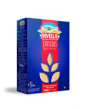 A box of Divella Couscous, 500g - 17.6oz