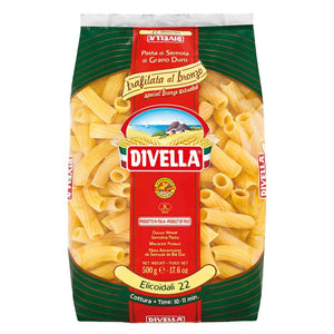 A pack of Divella bronze-executed elicoidali pasta 22, 500g - 17.6 oz
